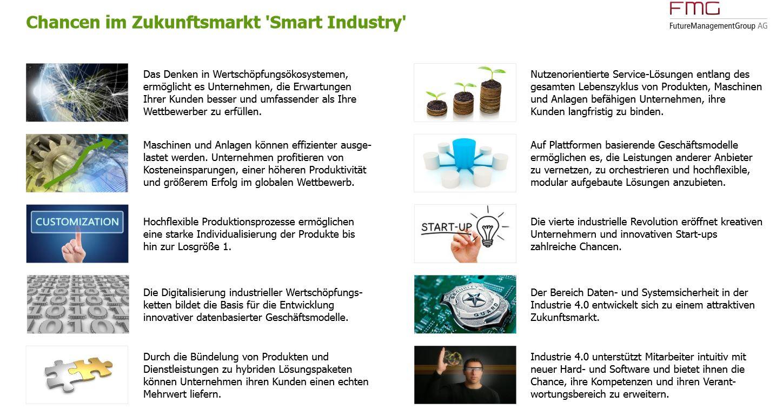 """Chancen im Zukunftsmarkt """"Smart Industry"""""""