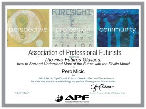 "2014 von der Association of Professional Futurists ausgezeichnet als ""Most Significant Futures Works"""